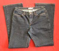 J Crew Boot Cut Stretch Denim Dark Blue Jeans Womens size 4