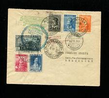 Zeppelin Sieger 210 + 214 1933 Rome Flight +2nd South America Flight Greece Post