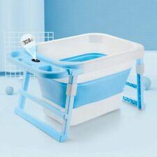 Bañera portatil sensor de temperatura Bebé Baño Bañera Plegable barril Niño Natación