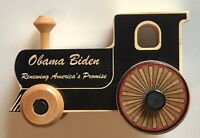 Barack Obama joe biden wood train 2009 presidential inauguration rare 44th