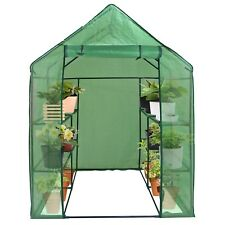 8 Shelves Walk-in Greenhouse Garden House Plants Flowers Green Plant Insulation