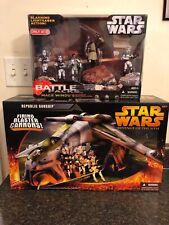 Star Wars The Clone Wars Lot/Republic Gunship Mace Windus Attack Battallion