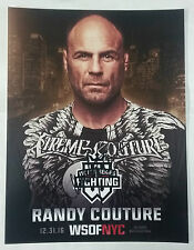 Randy Couture Signed Auto Autograph 8.5x11 12/31/16 MSG WSOF NYC Promo Photo