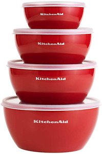 Classic Prep Bowls With Lids Set of 4 Empire Red NEW
