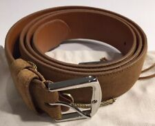 525$ Loro Piana Khaki Men's Suede Belt Size 44 Made in Italy