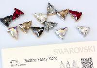 Original SWAROVSKI 4779 Buddha Kristalle 18x15.6mm mit Annähen Metall Fassungen