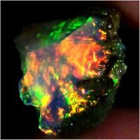 100% A1 Natural Ethiopian Opal Rough Multi Color Ethiopia Fire Opal  02.90 Cts
