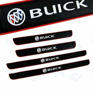 X4 New Black Rubber Car Door Scuff Sill Cover Panel Step Protector For Buick