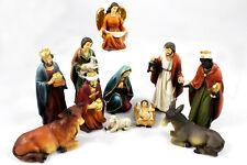 Krippenfigurenset aus Poly, Heilige Familie, 3 Könige, Engel und Hirte (0941020)
