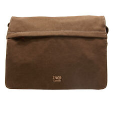 Troop Londra-Marrone Classic Messenger Bag in canvas-leather