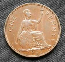 Great Britain (Uk) 1940, About Uncirc Vintage 1 Penny Coin 1940, King George Vi