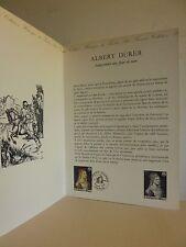 Document philatélique 1er jour   Albert DÜRER Autoportrait avec fleur de ricin