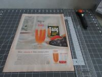 1960 Tang Breakfast Drink, Vintage Print Ad ~ Wake up to Tang