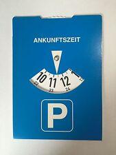 Parkscheibe Europa ohne Werbung Rückseite Benzinrechner