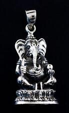 Amulette Pendentif Elephant Lord Ganesh Argent 925 18 g Bijou Hindou K39C 25413