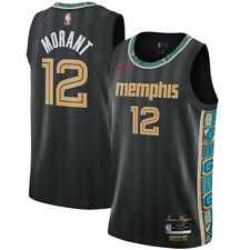 New 2021 NBA Nike Memphis Grizzlies Ja Morant #12 City Edition Swingman Jersey