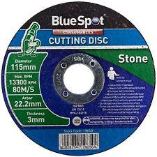 "BlueSpot 115mm 4.5"" Stone Cutting Slitting Disc 3mm Thickness Concrete Masonry"