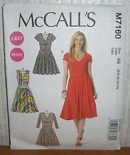 Womens/Misses & Petite Dresses & Belts Sewing Pattern/McCall's M7160/SZ 6-14/UCN