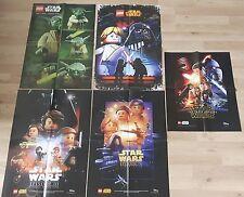 5 LEGO ® star wars ™ poster: Episode 3/4/7/yoda/dark vador & Luke NEUF