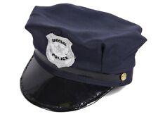 Polizei-Hut Polizeimütze Kinder Cap Karneval Cop Polizist Fasching Schwarz 176a