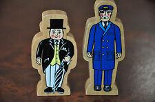 THOMAS TANK ENGINE WOODEN RAILWAY Sir Topham Hatt Fat Controller Station Master