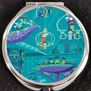 Enchanted Tiki Room Bird Disneyland Walt Disney World Shag Makeup Compact Mirror