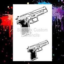 45 Automatic Pistol Design  Airbrush Stencil,Template
