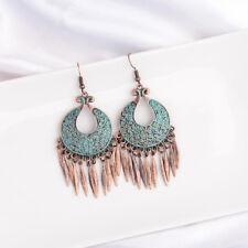 Bohemian Style Carved Bronze Alloy Tassel Dangle Vintage Women Earring Jewellery