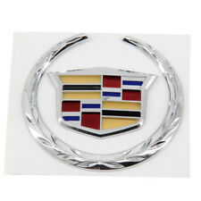 "For Cadillac Rear Grille 4"" Emblem Hood Badge Logo Chrome Color Symbol Ornament (Fits: Cadillac)"