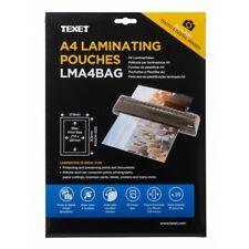 More details for texet a4 laminating pouches gloss, coloured, window stick, retrievable kodak