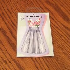 Lady Jane Ltd. Dress Shaped Note Cards 6pc. Easter, Holiday, Gift