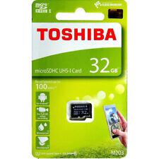 Toshiba M203K 32GB MicroSDHC U1 Class 10 Memory Card 100MB/s THN-M203K0320