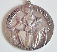 Regina Pacis Silver Medal / Medallion & Chain - Madonna & Child