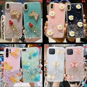 for OPPO Phone Case & Lanyard ,Sparkly Bling Soft Women Clear Protective Cover A