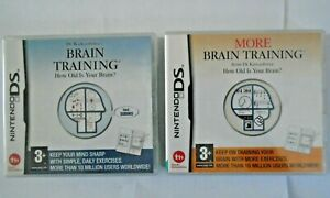 Dr Kawashima's Brain Training and More Brain Training (2 x DS games Complete)