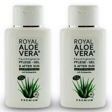 2 x Royal Aloe Vera Pflege Gel After Sun Shave 92% Bio Aloe Vera Schisandra