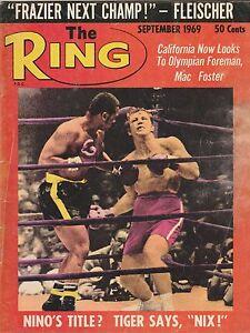 THE RING MAGAZINE JOE FRAZIER BOXING HOFer-JERRY QUARRY COVER SEPTEMBER 1969