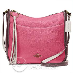 NEW Coach Chaise Colorblock Pebble Leather Crossbody Bag Purse - Confetti NWT