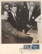John F. Kennedy - 1964 Vintage 8x10 Photo w/ Commemorative First Day Stamp
