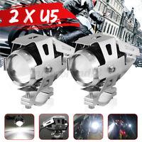 2X Moto Led Faretti Argent U5 125w 3000lm Lampada Faro Anteriore Per Bmw