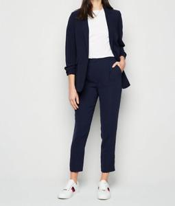 New Look Navy Slim Leg Suit Trousers Size-UK12 BNWT