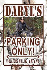 L@@K! Camo Daryl Dixon #2 Walking Dead Parking sign