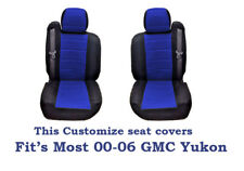 Black/Blue Mesh Fabric Customized seat covers Fit's 00-06 GMC Yukon.