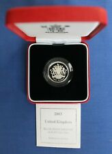 More details for 2003 silver piedfort proof £1 coin in case with coa