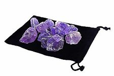 Rough Natural Amethyst Stones 1/2 lb Raw 1000+ Carats Zentron Crystals