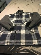 M Mens BILLABONG Flannel Checkered Reversible Jacket