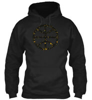 Black And Gold Basketball Gildan Hoodie Sweatshirt