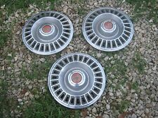 3 pcs Used Vintage Pontiac PMD Hubcaps Hub Cap good for decor
