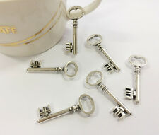 "20PCS Vintage Silver Tone Cute 8 Key ""E"" Alloy Charms Pendant Jewelry Findings"