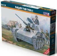 PZ.KPFW T-60 743(r) - WW II LIGHT TANK (GERMAN WEHRMACHT MKGS) 1/35 MISTERCRAFT